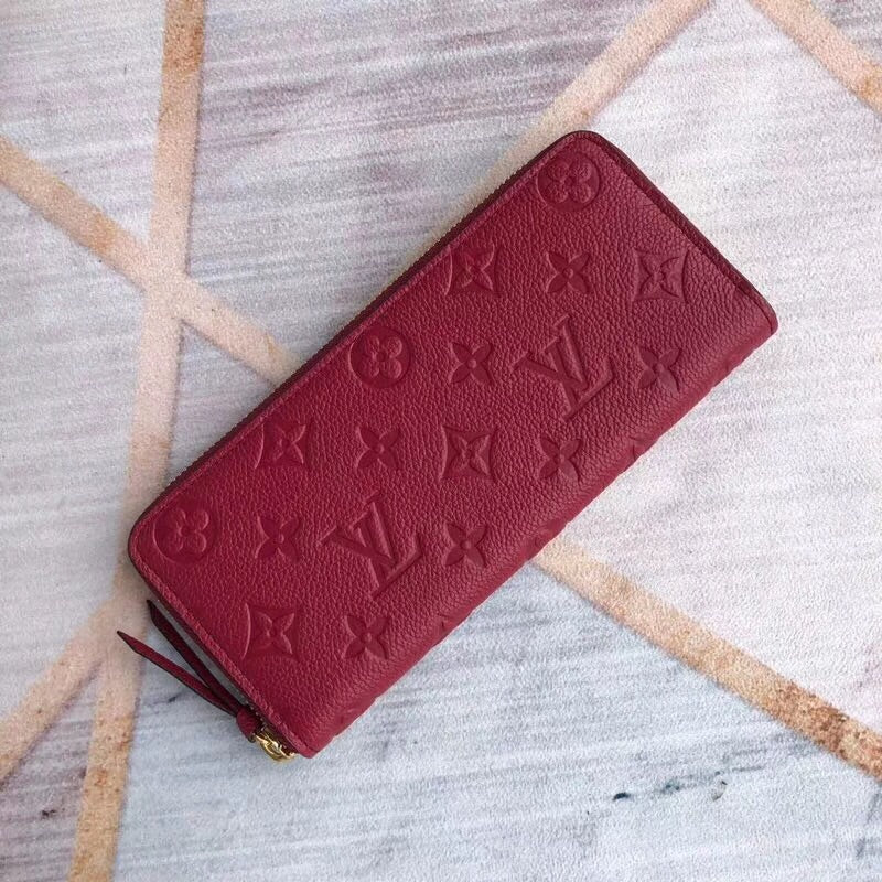 LV CLEMENCE ZIPPED WALLET