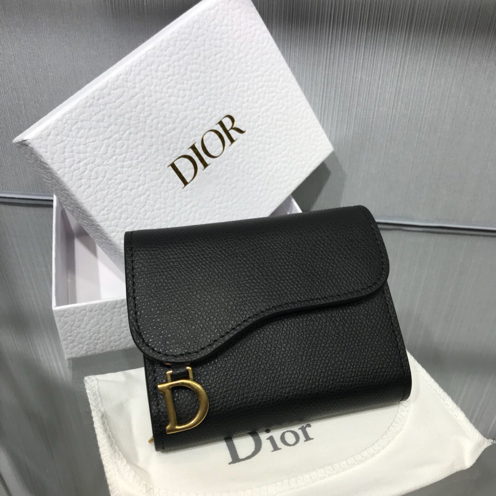 CHRISTIAN DIOR TRIFOLD SADDLE WALLET