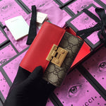 GUCCI PADLOCK TRIFOLD WALLET