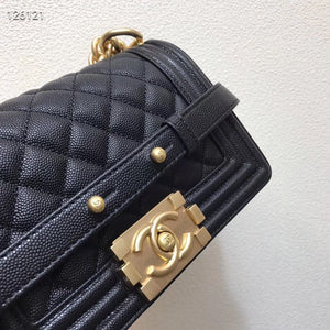 CHANEL BOY BAG MINI 20 caviar - vlixcogoods