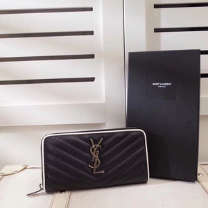 YSL ZIPPED WALLET