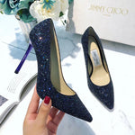 JIMMY CHOO GLITTER SHOES 65 85 mm