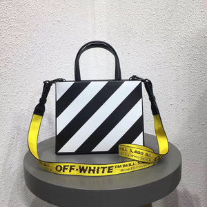 OFFWHITE LEATHER BOX BAG