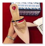GUCCI 45 MULES BAMBOO HEELS - vlixcogoods