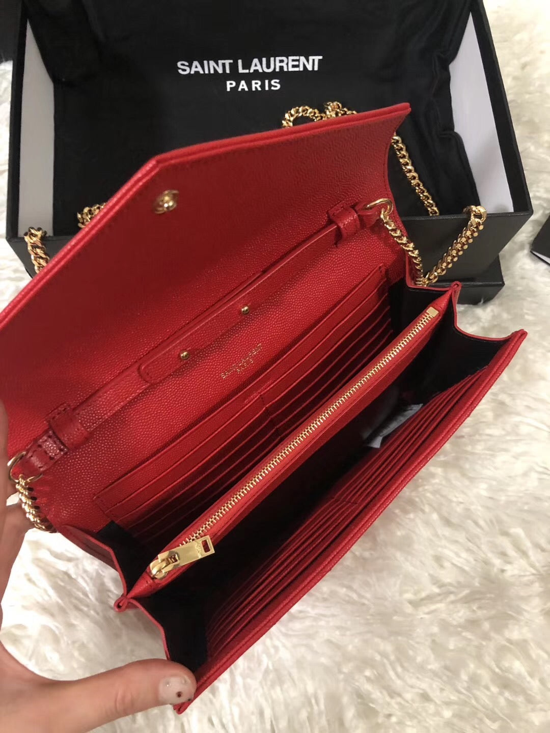 YSL WALLET ON CHAIN GHW