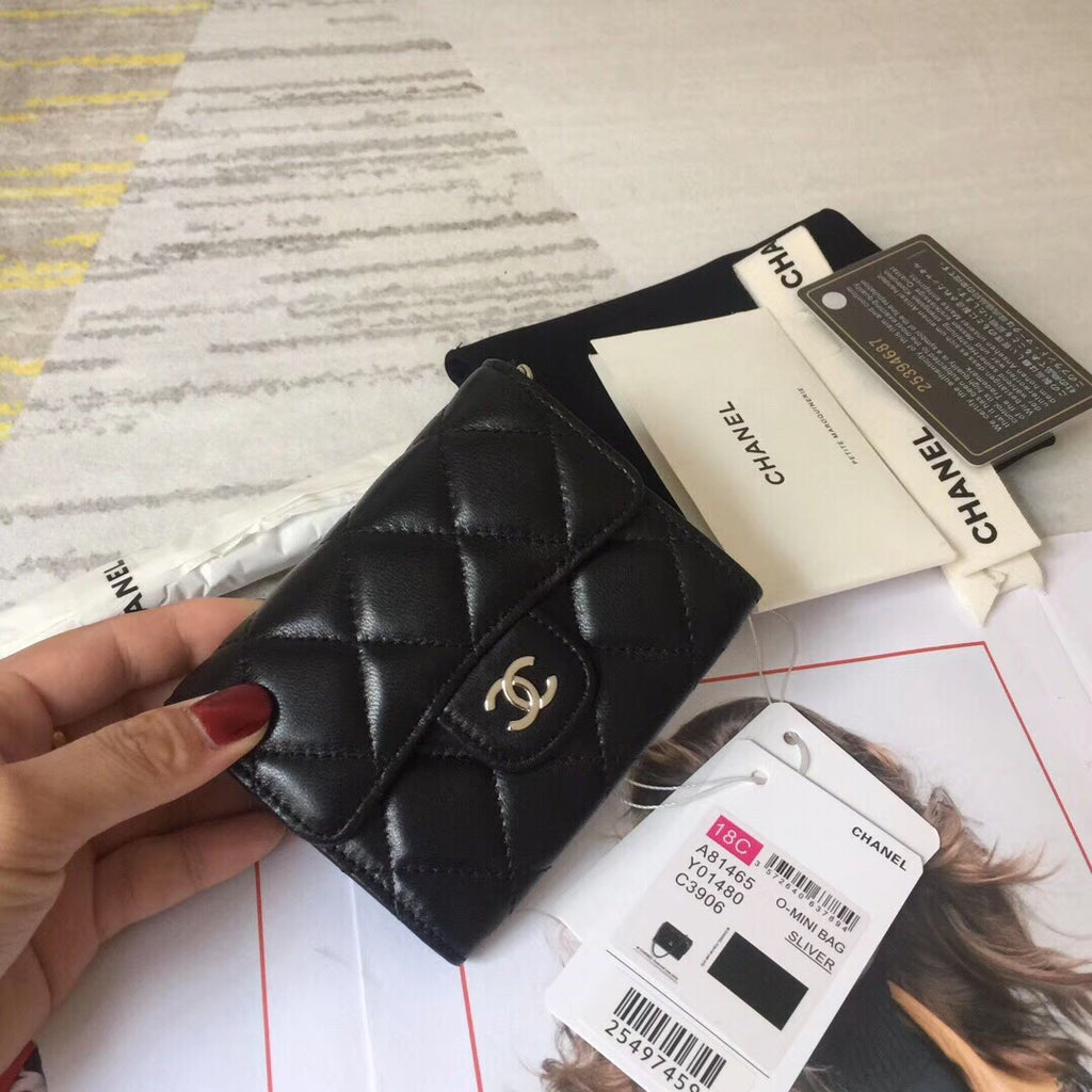 CHANEL CLASSIC CARD HOLDER lambskin - vlixcogoods