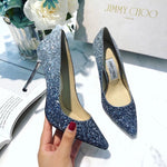 JIMMY CHOO GLITTER HEELS 65 and 85 mm