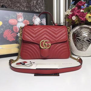 GUCCI GG marmont small top handle bag - vlixcogoods