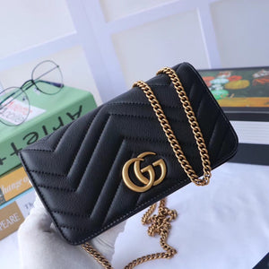 GUCCI GG MARMONT LEATHER SLINGBAG - vlixcogoods
