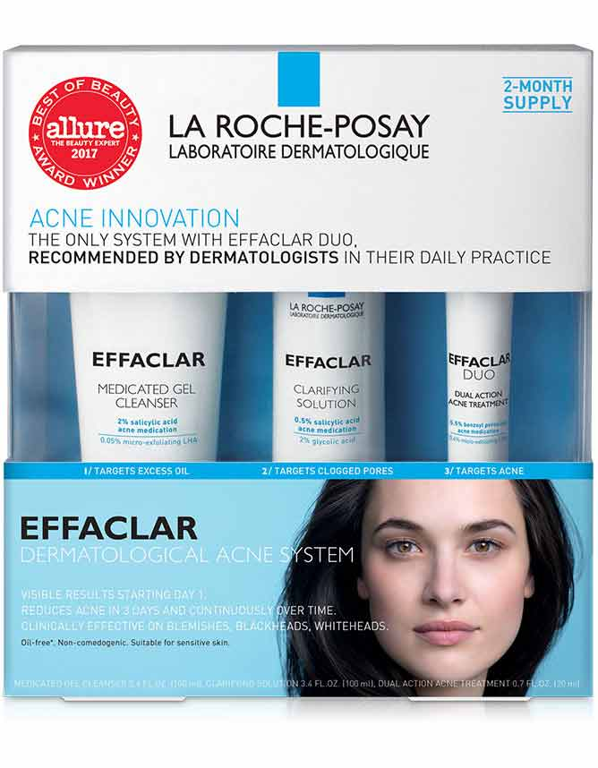 Effaclar 3-Step Acne Treatment System