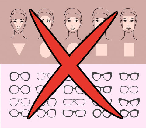 your face shape doesn't matter when you're shopping for glasses