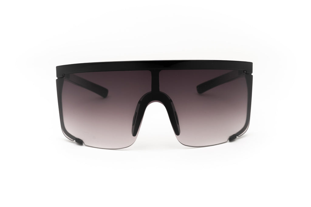 """Quest"" 1980's Retro Oversized Shield Sunglasses"