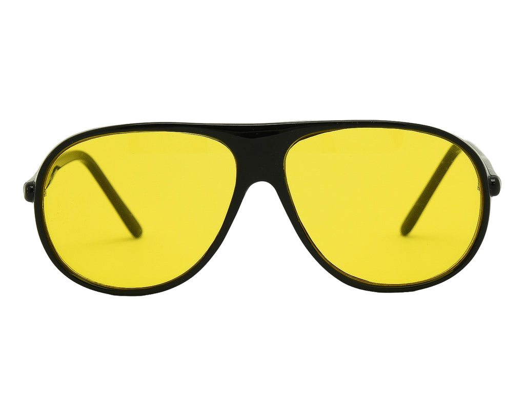 """Bart"" 1980's Yellow Tint Aviator Sunglasses"
