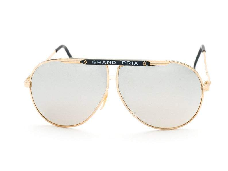 1980's Vintage Deadstock Grand Prix Mirrored Lens Classic Aviator Sunglasses