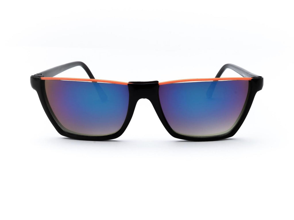 """Parker"" 1980's Vintage Flat Top Rainbow Wayfarer Shield Sunglasses"