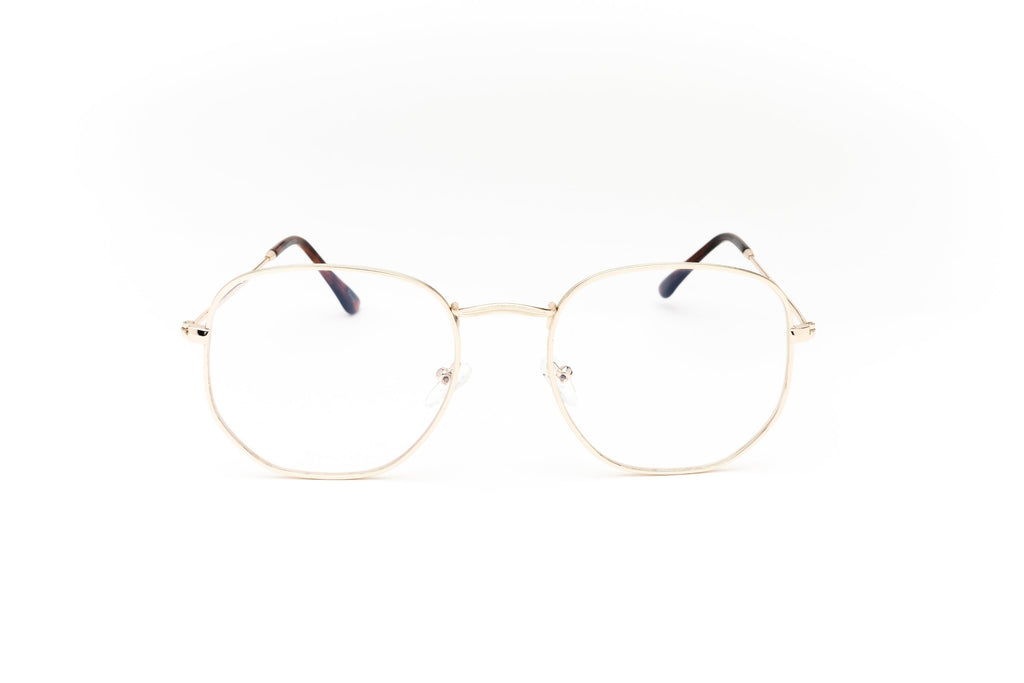 1980's Retro Non-Prescription Round Square Clear Lens Nerd Glasses