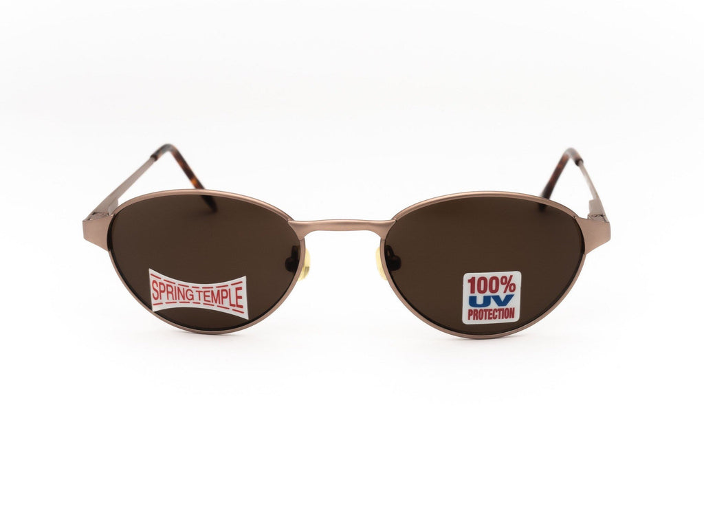 1990's Vintage Deadstock Bronze Frame Small Oval Sunglasses