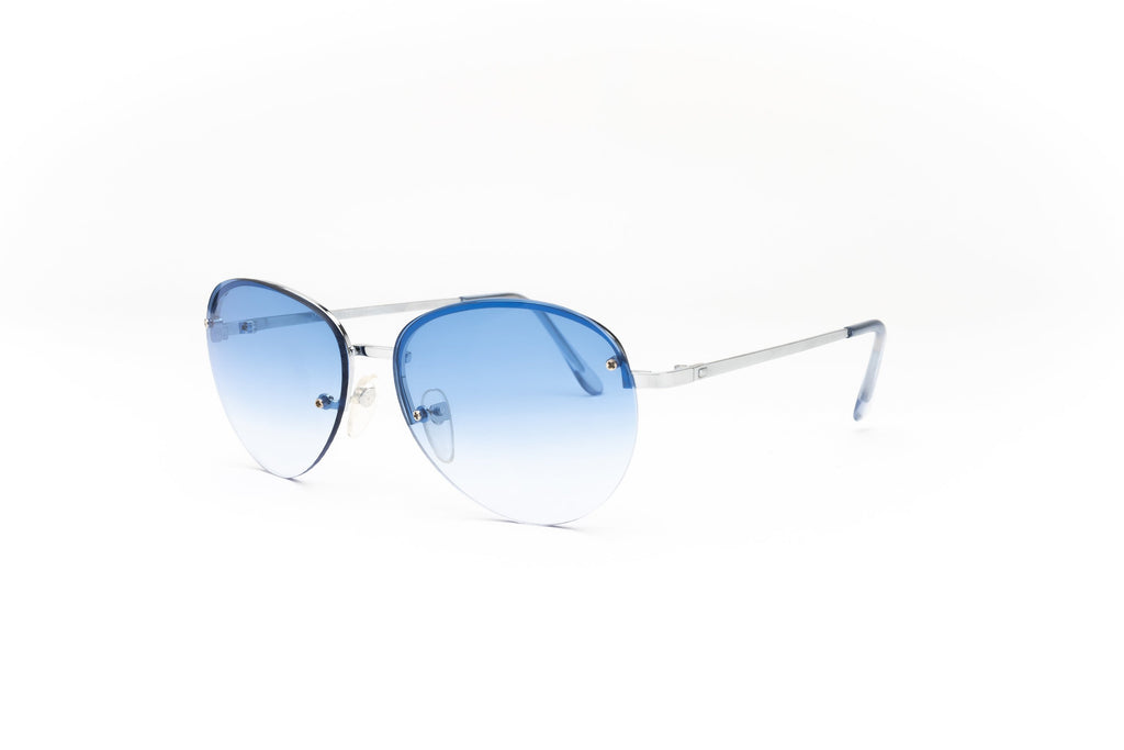 """Moon"" 2000's Y2K Vintage Rimless Gradient Aviator Sunglasses"