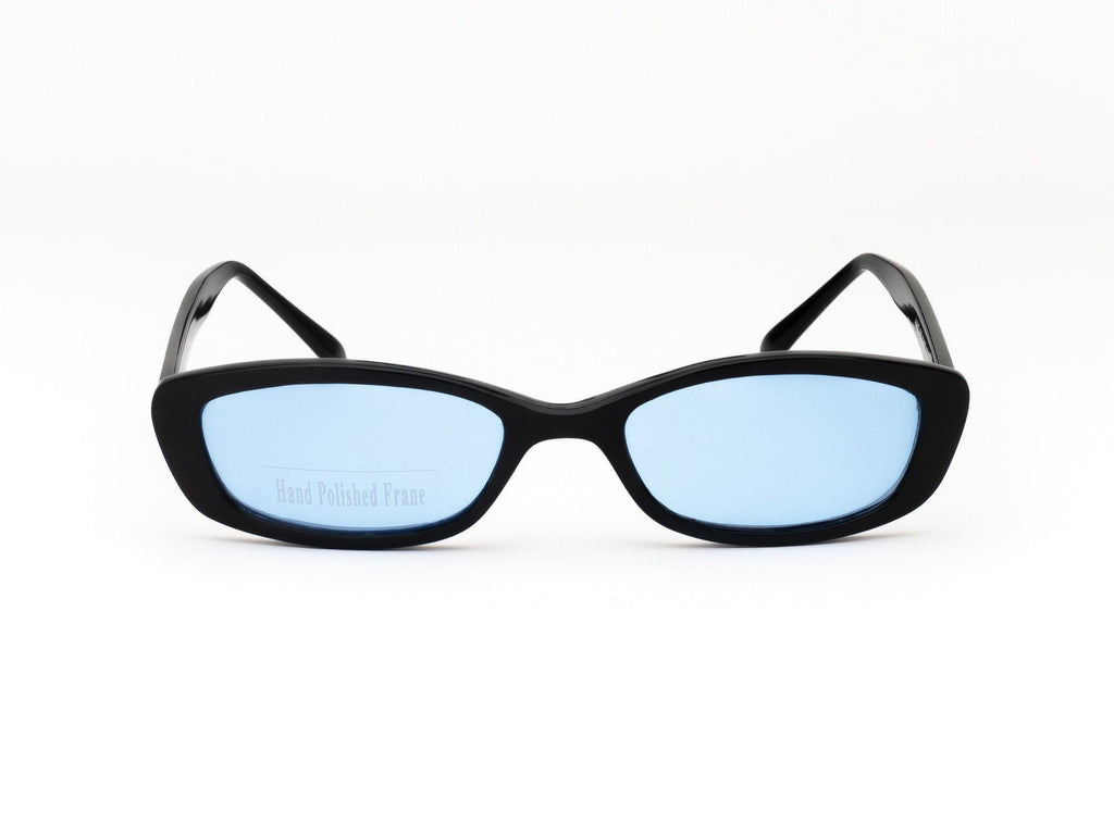 1990's Vintage Deadstock Tinted Lens Slim Rectangle Cat Eye Sunglasses