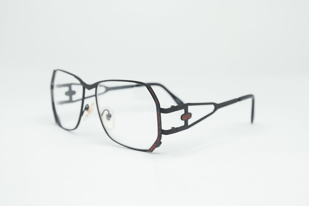 1980's Vintage Non-Prescription Oversized Square Aviator Clear Lens Glasses