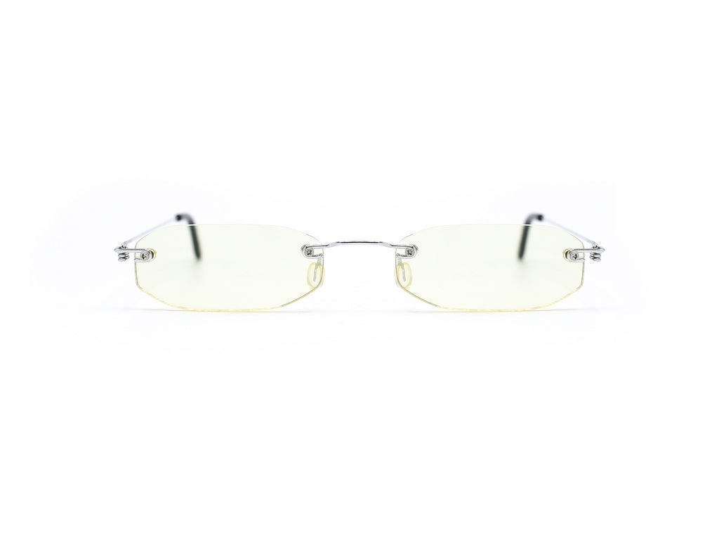 """North"" 2000's Y2K Vintage Rimless Micro Octagon Rectangle Sunglasses"