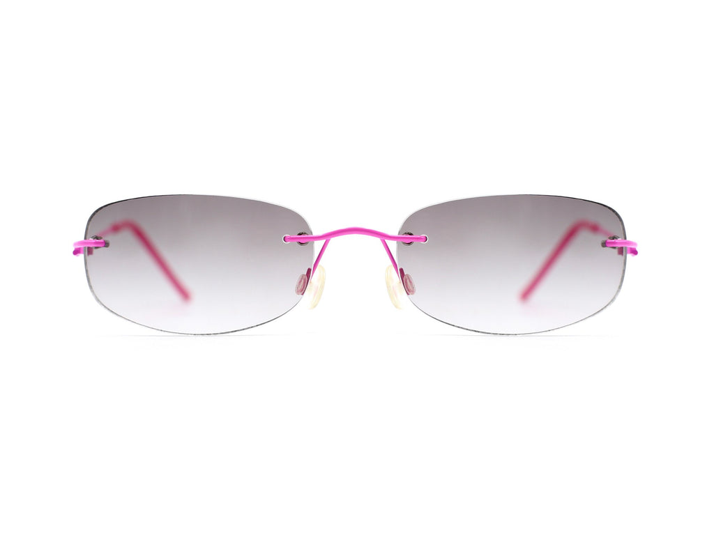 """Hailey"" 2000's Y2K Vintage Pink Metal Micro Square Sunglasses"