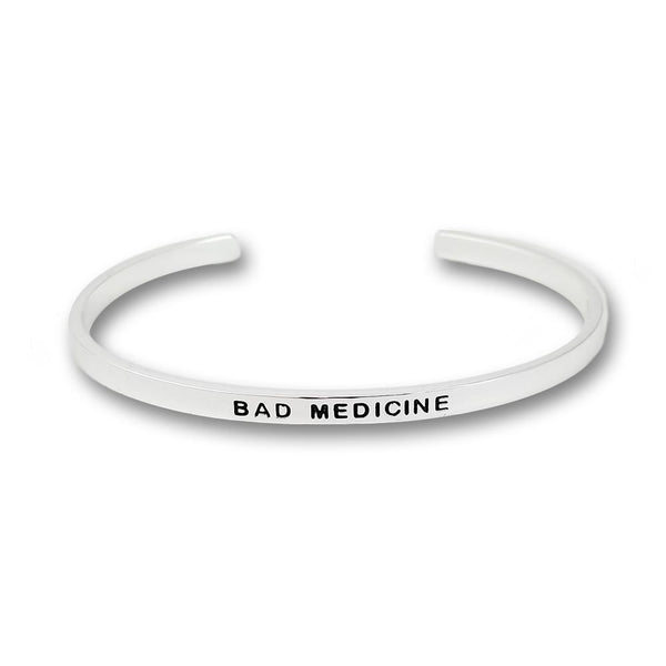 Bad Medicine Silver Plated Bangle