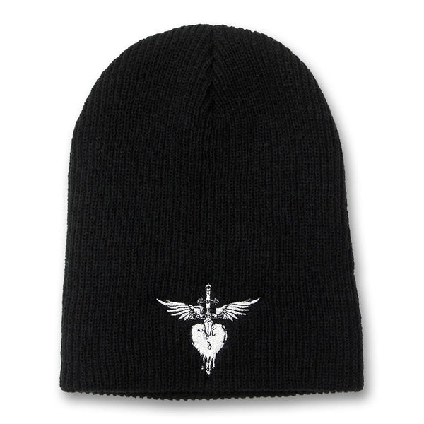 Heart & Dagger Embroidered Beanie