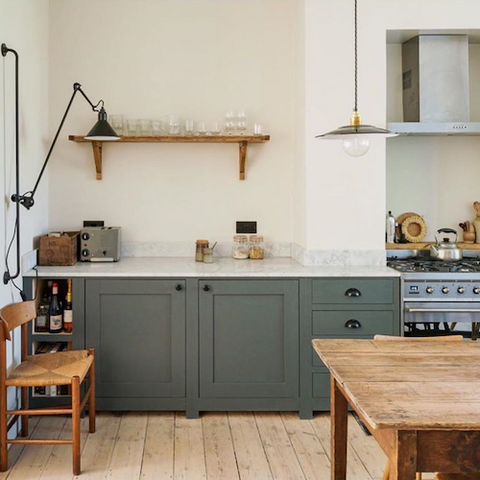 considered things east london shaker kitchen