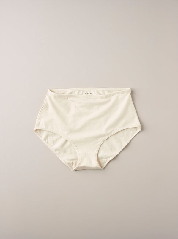 Organic cotton full brief knicker ~ unbleached