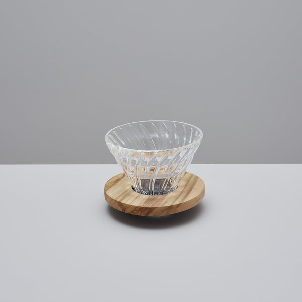 Product image of Olive wood V60 glass dripper