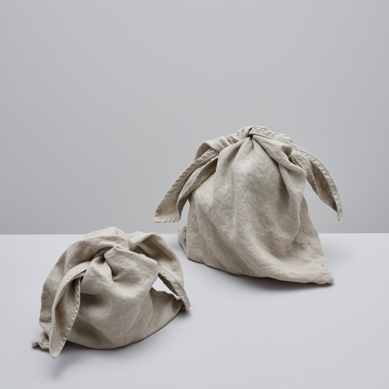 Product image of Linen bento bag | set of two