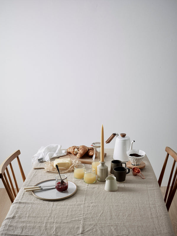 weekend breakfasts tablescape
