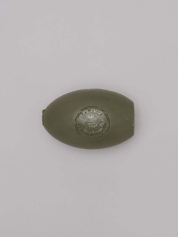olive french soap for a rotating soap holder