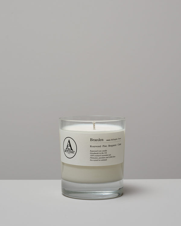 Rapeseed wax candles ~ Braeden (Forest)