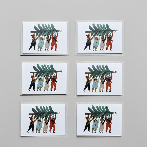 Product image of Carrying the tree ~ set of six cards