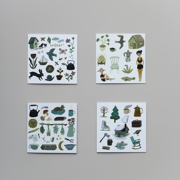 Product image of Through the seasons ~ set of four cards