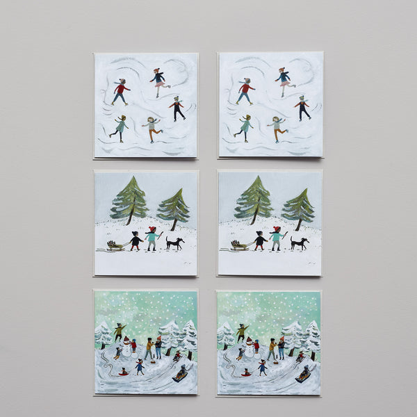 Product image of Adventures in the snow ~ set of six cards