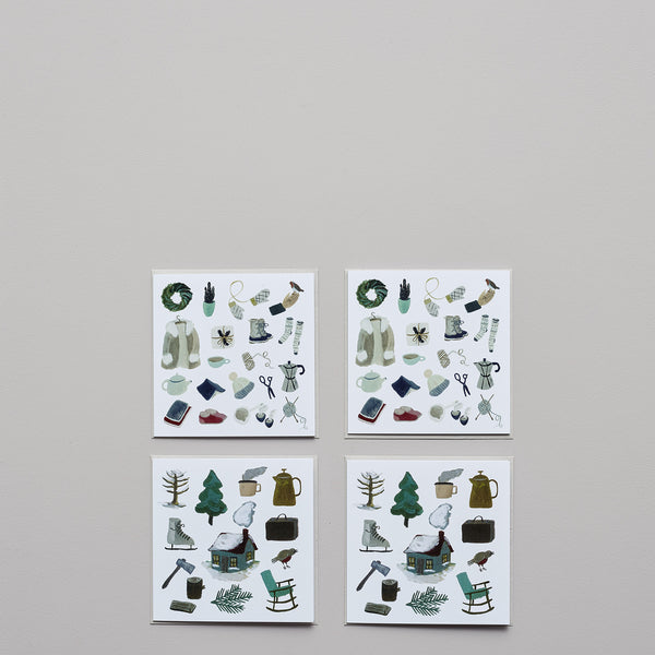 Product image of Winter scenes ~ set of four cards