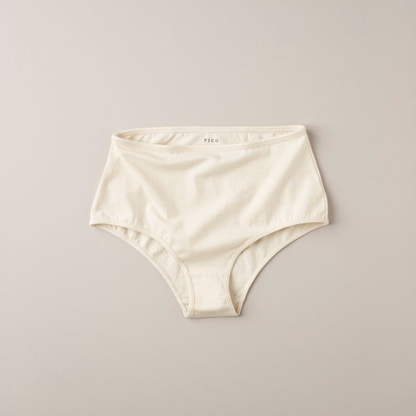Product image of Organic cotton high rise knicker ~ unbleached