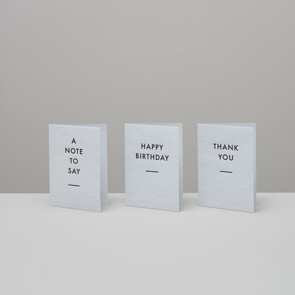 Product image of Set of three letterpress cards