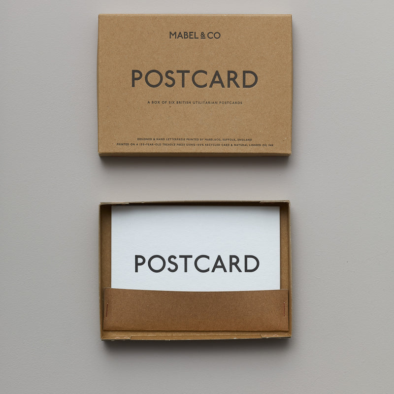 Product image of Letterpress postcard