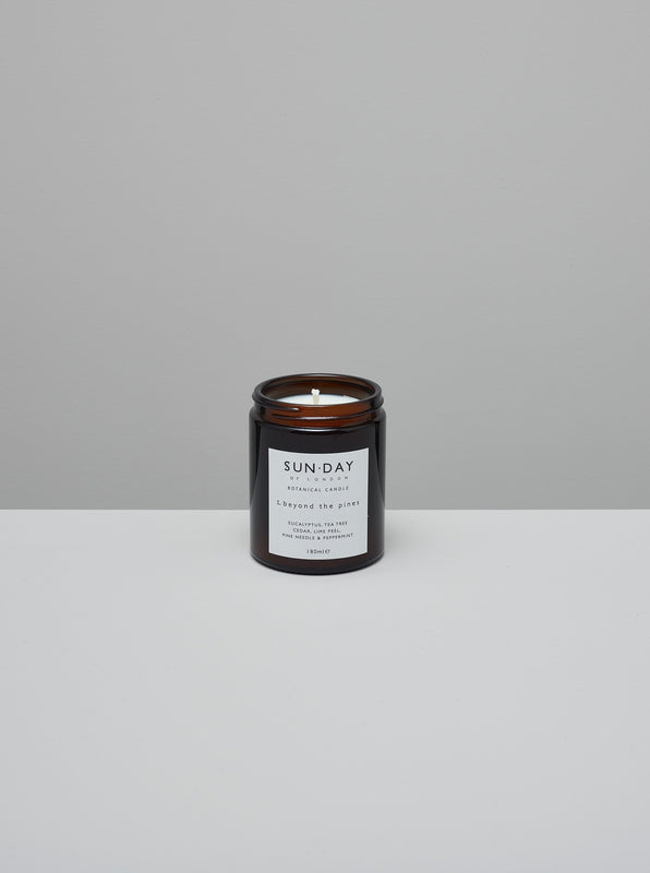 Botanical candle ~ beyond the pines