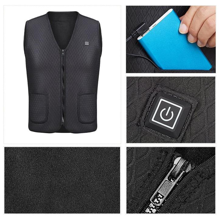 USB Charged Heating Vest Jacket