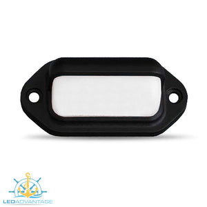 12v Black Waterproof Compact Surface Mount LED Courtesy Light (White LED)