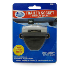 Load image into Gallery viewer, Ark 7 Pin Flat LED Illuminated Night Trailer Socket