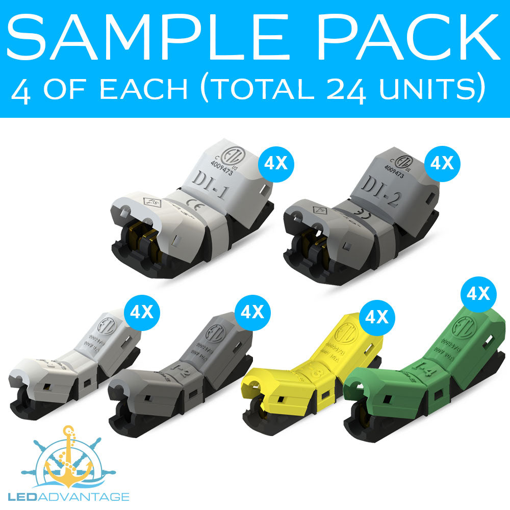 Jowx Connectors - Sample Pack (4 of each, Total 24 units)