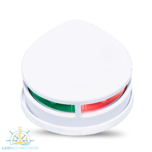 12v White Horizontal Mount Bi-Color LED Port & Starboard Navigation Light