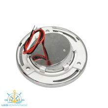 "Load image into Gallery viewer, 12/24v 3.2"" (80mm) 1 Watt Chrome Recessed LED Eyeball Swivel Light"