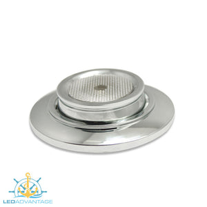 "12/24v 3.2"" (80mm) 1 Watt Chrome Recessed LED Eyeball Swivel Light"